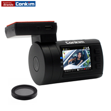 Conkim DVR Car Camera Dash Cam mini 0806S Ambarella A7 1296P 1080P GPS Video Recorder Hidden Registrator Camera Capacitor w/CPL