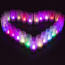1pcs Creative colorful Voice control Led electronic candles wedding decoration lights Valentine's day Birthday party gifts toys