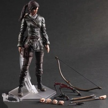 25CM Tomb Raider Lara Croft Enhanced Version Play Arts Kai PVC Action Figure Toys Christmas Gift Collectors Model Doll