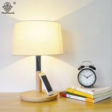 Original Table Lamp Metal Wooden Lamp Body Fabric Lampshade E27 90V-260V For Bedroom Study Foyer Indoor Home Decorative Lighting