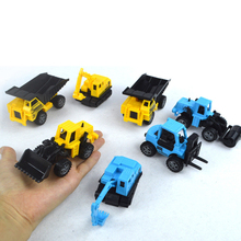 8PCS types Diecast mini alloy construction vehicle Engineering Car Dump-car Dump Truck Model Classic Toy Mini gift for boy