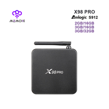 MEMOBOX X98 PRO Android 6.0 TV Box Amlogic S912 64 Bit Octa Core 4K 2K H.265 with Dual-band WiFi 4K Bluetooth 4.0 Media Player(China)