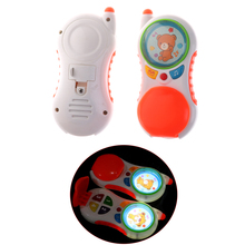 Christmas Gifts Baby Musical Phone Toy Kids Electronic Mobile Phone with Sound Children Learning Study Educational Playing Toys(China)
