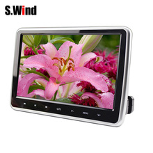 Universal 2 Din Car DVD Player 10 Inch HD 16:9 Digital LCD Screen Car Headrest Monitor DVD/USB/SD Player Easy To Install