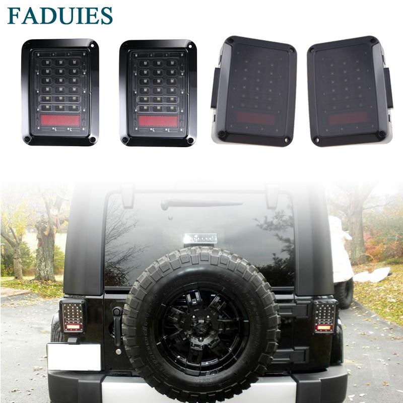 FADUIES European &amp; US version 2Pcs Led Taillight Brake Light Reverse Light Signal Light For Jeep Wrangler Jk Tail Light<br>