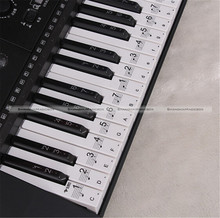 Music Keyboard Electronic Organ Note Clear Stickers Set For 61 54 Keys 71515002 JDS