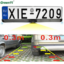3in1 Two Car Parking Sensor Reversing Radar Video all-in-one System And Adjustable Rearview Camera Can Convert Video Formats(China)