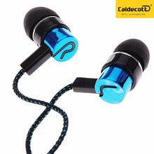 Blue Color Wired Earphone 3.5mm Jack Standard Stereo In-Ear Earbuds 1.1M Reflective Fibber Cloth Line Noise Isolating Earphones(China)