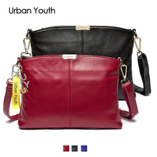 2017 Fashion Women Bag Genuine Leather Women Shoulder Bags Brand Quality Bag Cow Leather Vintage Clutch Crossbody Messenger Bags