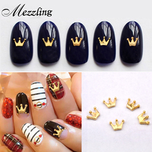 10pcs New Gold Metal Charm Crown Design Nail Art Studs DIY 3d Nail Jewelry Accessories Beauty Nail Decoations