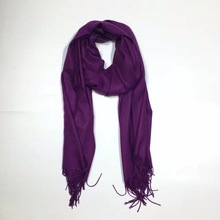 New cashmere scarf women long purple/pink/black/green warm soft plain shawls scarves high quality 190cm*60cm