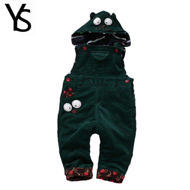 Top Quality 6m- 4Years Winter Velvet  Corduroy Infant Long Pants Baby Overalls Toddler Girls Boys hooded jumpsuit Rompers 1871<br><br>Aliexpress