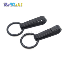 100pcs/pack Gloves Hook Plastic Buckles Snap Hook With O-Ring Black
