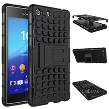 For Sony Xperia M5 Case 5.0inch Hybrid Kickstand Rugged Rubber Armor Hard PC+TPU With Stand Function Cover Cases(China)