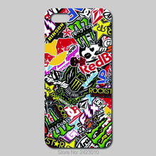 High Quality Cell phone case For iPhone 6 6S 7 Plus SE 5 5S 5C 4 4S iPod Touch 6 5 4 Case Hard PC stickers bomb Patterned Cover