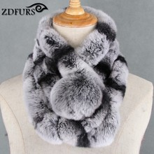 Glaforny 2017 New winter beaver rabbit wool scarf collar lady winter warm fur scarf otter rabbit hair collar set wholesale(China)