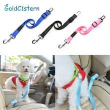 High Quality Car Safety Pet Dog Seat Belt Stretchable Cat dog Travel Clip Lead Restraint Harness Auto traction lead 3colors 70cm(China)
