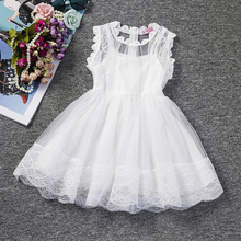 2017 Baby Girl Floral Lace Princess Tutu Dress Wedding Christening Gown Dress Girls Clothes For Kids Party Wear Meninas Vestidos(China)