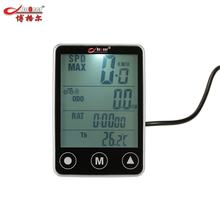 Bogeer Hot Sale Touch Button Bicycle Computer Odometer Speedometer Multifunction LCD Large-screen Bike Computer(China)