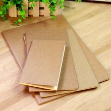 Hot Blank kraft paper notebook diary 30 sheets Kraft cover Sketch Book csoft copybook Office School Supplies(China)