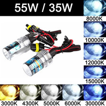 1 Pair 35W 55W Car XENON HID Headlight REPLACEMENT BULBS LAMP H7 5000K10000K 30000K