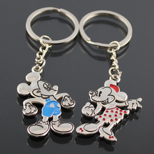 Cute 1 Pair Anime Mouse Couple Keychain Loves Key chain Charm Key Ring Men Women Jewelry Gift Valentines Keyring