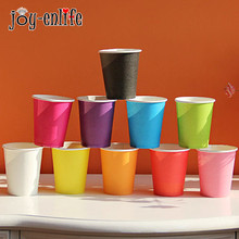 JOY-ENLIFE 10pcs/lot Disposable Paper Cup Drinking Cup For Baby Shower Birthday Wedding Party Supplies Wedding Decoration