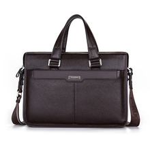Men Cowhide Travel Shoulder Bag Student Crossbody Courier Large Capacity Briefcase Laptop Pack Bag(China)
