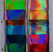 Factory Direct / Environmental refraction / snakeskin pu leather / Holographic pvc leather / footwear fabric / large concessions