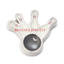 10pcs  bowling ball sports   floating charms for glass locket FC.Min amount $15 per order mixed items