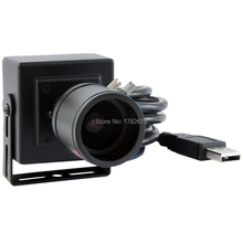 2.8-12mm megapixel varifocal lens 640 x 480 Black USB CCTV camera Face Detection mini USB Camera(China)