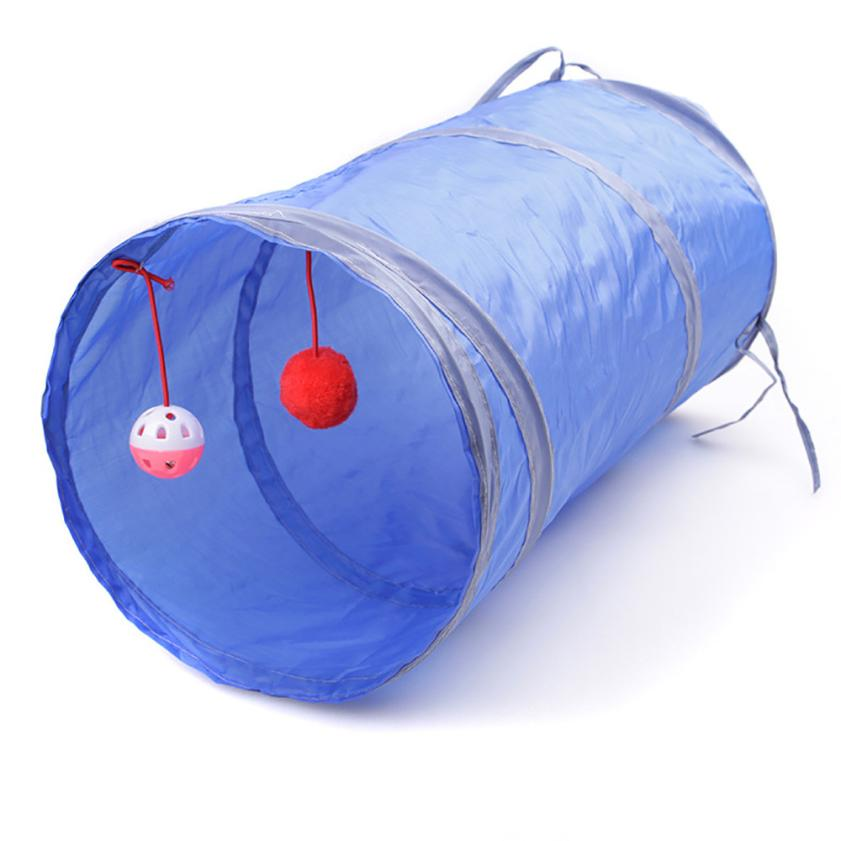 50*25cm nylon collapsible cat play tunnel with scratching ball 50*25cm Nylon Collapsible Cat Play Tunnel With Scratching Ball HTB1NxP8RVXXXXcdapXXq6xXFXXX0