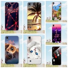 Soft Silicone Case For LG X Power cover 3D Tree Cat Patterns Cover Capa For Coque Fundas LG X Power K210 K220 K220ds Coque 5.3""