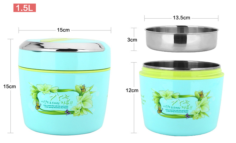 Cute Cartoon 304 Stainless Steel Lunchbox Thermal Insulation Food Storage Container Portable Handle Picnic Bento Lunch Box 11