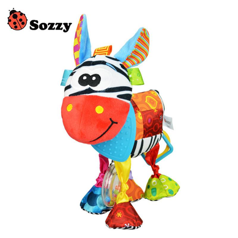 Sozzy Baby Animals Buddies Placate Activity Stuffed Plush Lion Dog Owl Elephant Monkey Teether Toy cm Multicolor Multifunction 10