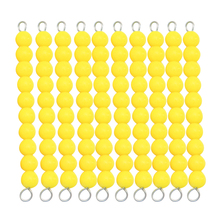 Baby Toy Montessori Golden Bead Chain 1-100Numbers Math Early Childhood Education Preschool Training Toys Brinquedos Juguetes