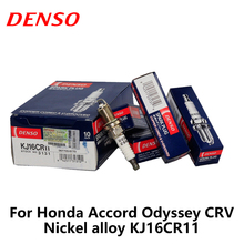 4pieces/set DENSO Car Spark Plug For Honda Accord Odyssey CRV Nickel alloy KJ16CR11(China)