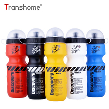 Transhome Sports Water Bottle 650ml Bicycle With Lid Portable Bike For Mountain Outdoor Camping Supplies For Outdoor Sports Bike(China)