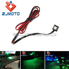 1 Green LED Brake Reservoir Light Lite Motorcycle Accent Bike For ZZR ZX6 ZX 636 Z800 Z250 Z1000 Ninja 300 KawasaKi(China)