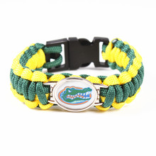 Florida Gators Custom Paracord Bracelet NCAA College Football Charms Bracelet Pure Hand Weaving Survival Bangle , DropShipping!(China)