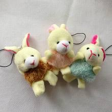 "6cm(2.4"") Cartoon Plush Tassel Dress Rabbit Plush Pendants Mini Rabbit For Key/Mobile Phone/Bag,Stuffed Doll(China)"