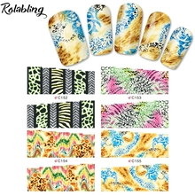 Hot Sale Varicoloured Different Styles Patterns Series Water Transfer Nail Sticker Fingernail Decorations Manicure Nails
