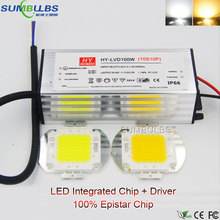 Full Watt Integrated AC COB LED Chip 100% Genisis LEDs 10W 20W 30W 50W 100W LED Light Source with Driver for DIY Floodlight