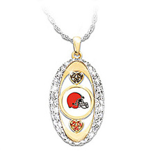 Cleveland Browns Pride oval Pendant Necklace drop shipping  Football team logo sports jewelry best christmas gift