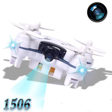 High Quqlity 1506 2.4G 4CH 6-Axis Mini RC Quadcopter Small Drone Helicopter with 3.0MP Camera Gift Toys Wholesale Free Shipping(China)