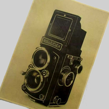 "wholesales pirce vintage kraft paper ""old age camera ""wall art poster pictures home decor for bathroom bar cafe SH-094"