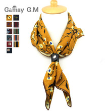 Fashion Cotton Scarf for Women Men Casual Floral Print Scarves Autumn Winter Ladies Wrap 60*60cm Soft Pocket Square(China)