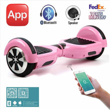 6.5'' Pink Hoverboard Two Wheels Electric Self Balancing Scooter Drift Smart Balancing Electric Scooters Bluetooth Mobile APP