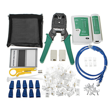 Buy 84Pcs Network Tool Set Network Wire Stripper Cable Tester Detector Connectors Crimper Tool Cable Tester RJ11, RJ45 for $18.73 in AliExpress store