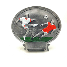 new resin trophies High-grade football trophies MEDALS customized soccer cup football MVP awards